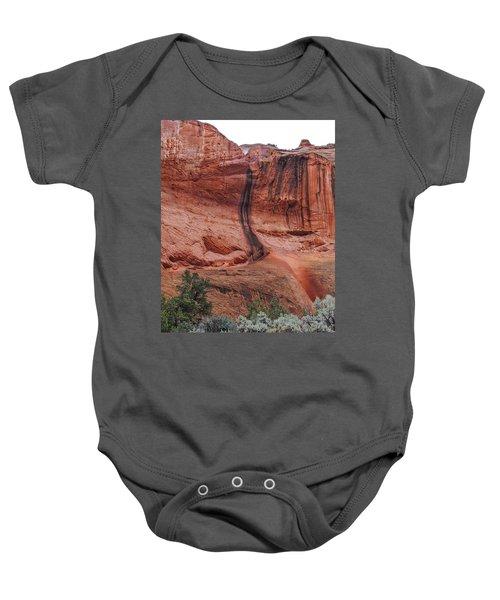 Desert Varnish Along Burr Trail Baby Onesie