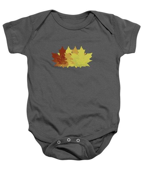 Diagonal Leaf Pattern Baby Onesie