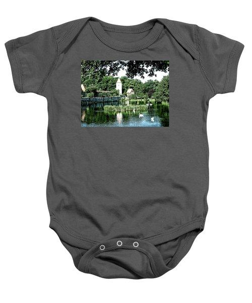 Dinkelsbuhl And Rothenburg Pond Baby Onesie