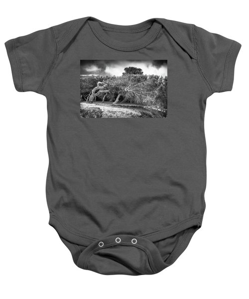 Distorted Trees Baby Onesie