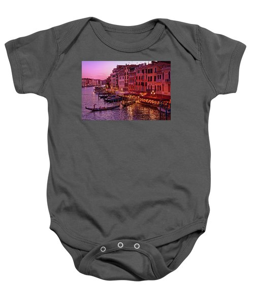 A Cityscape With Vintage Buildings And Gondola - From The Rialto In Venice, Italy Baby Onesie