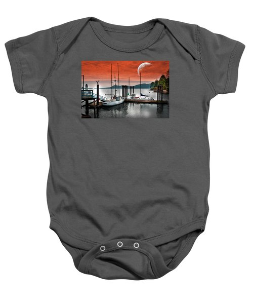 Dock And The Moon Baby Onesie