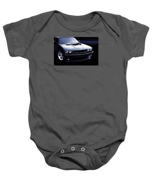 Dodge Challenger Blackbird Sr-71 Baby Onesie by Thomas Burtney