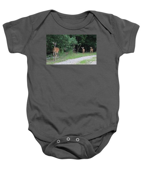 Doe With Twins Baby Onesie