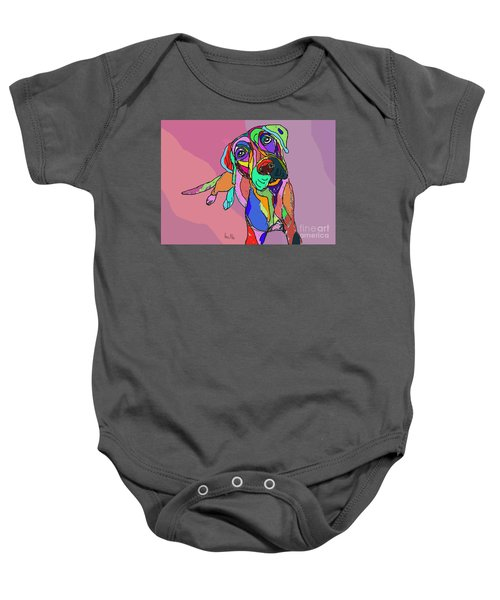 Dog Sketch Psychedelic  01 Baby Onesie