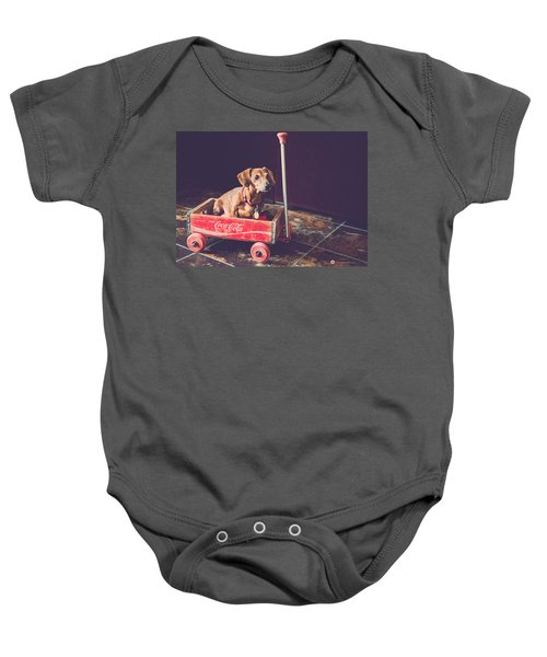 Doggy In A Wagon Baby Onesie