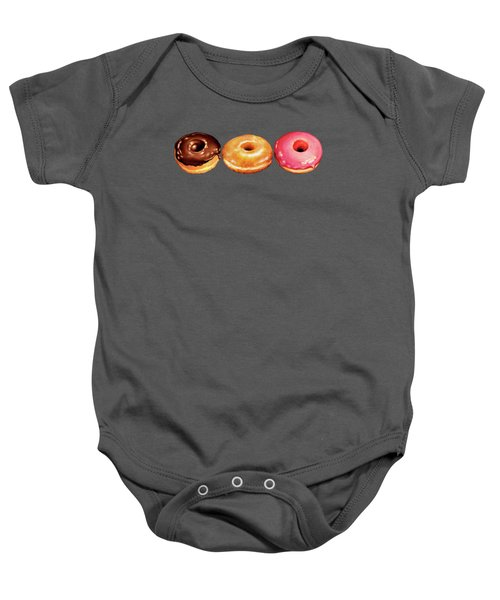 Donut Pattern Baby Onesie by Kelly Gilleran