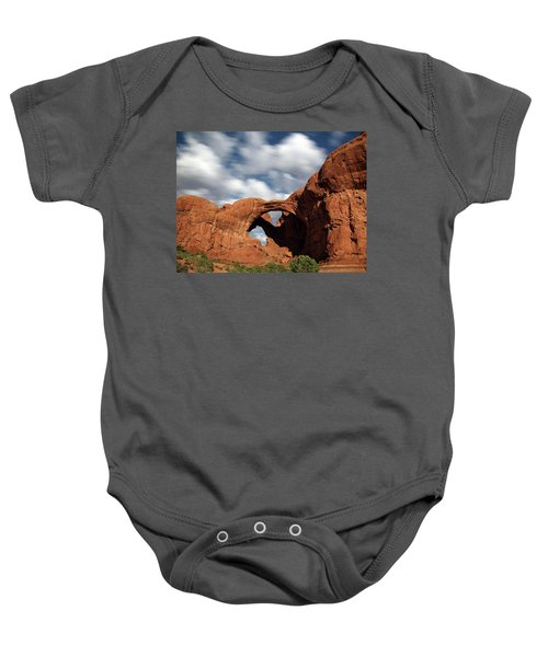 Double Arch In The Moonlight Baby Onesie