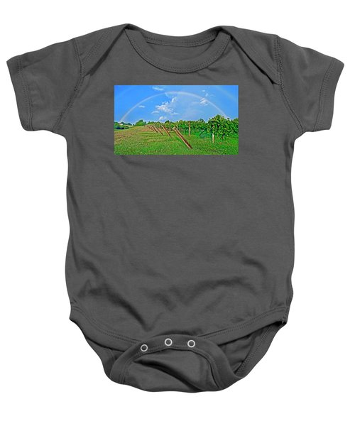 Double Rainbow Vineyard, Smith Mountain Lake Baby Onesie