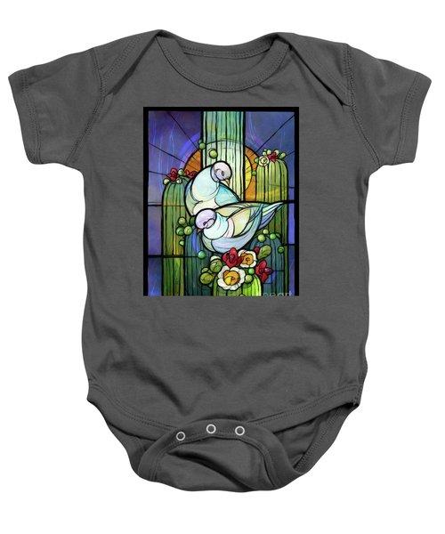 Doves On Saguaro Baby Onesie