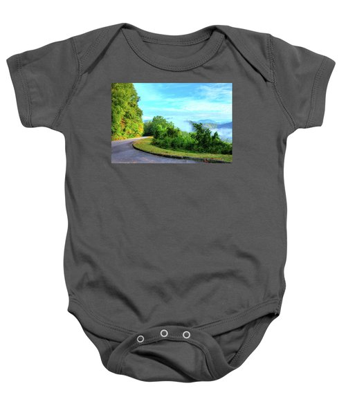 Down The Mountain Baby Onesie