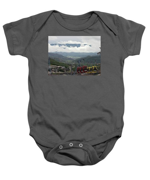 Down The Valley At Snowmass Baby Onesie