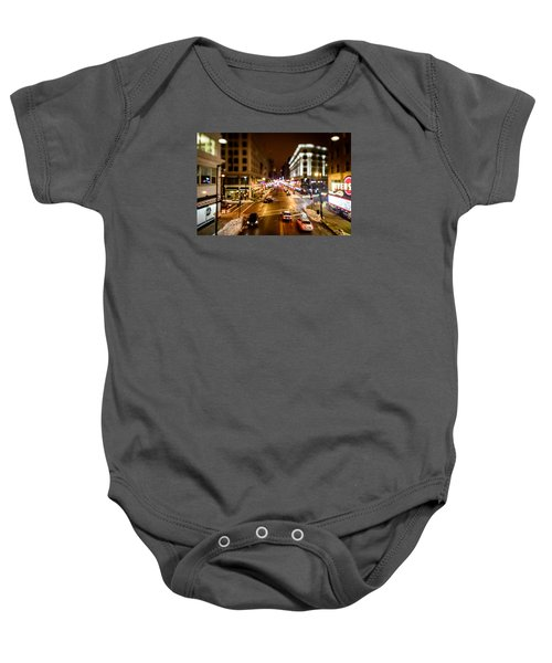 Downtown In The Itty-bitty City Baby Onesie