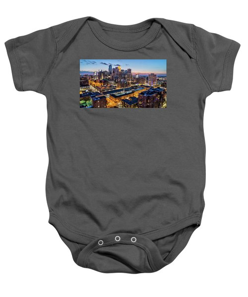 Downtown Minneapolis At Dusk Baby Onesie