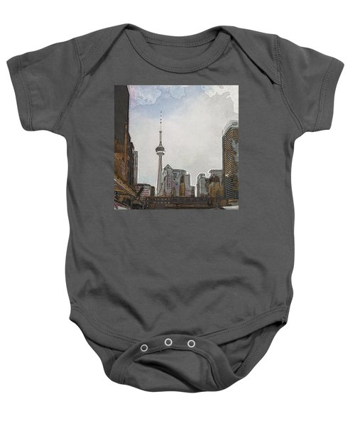 Downtown Toronto In Color Baby Onesie