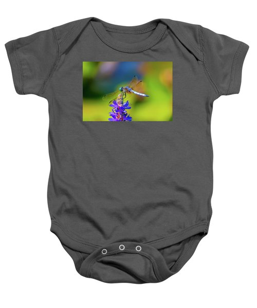 Dragonfly And Purple Flower Baby Onesie