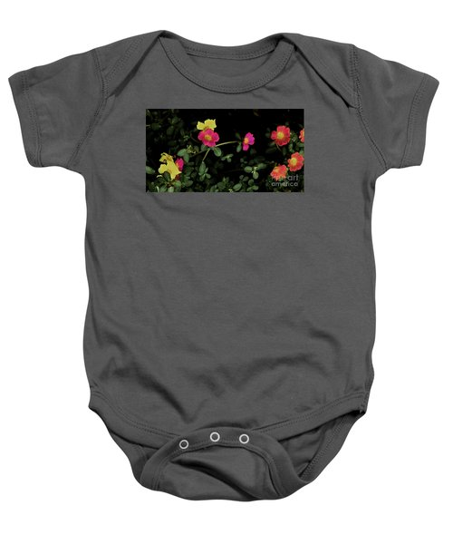 Dramatic Colorful Flowers Baby Onesie