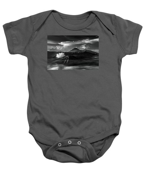 Dramatic View Of Mount Bromo Baby Onesie