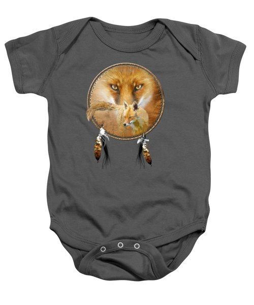 Dream Catcher- Spirit Of The Red Fox Baby Onesie