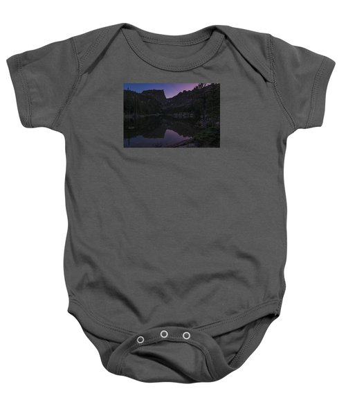 Baby Onesie featuring the photograph Dream Lake Reflections by Gary Lengyel