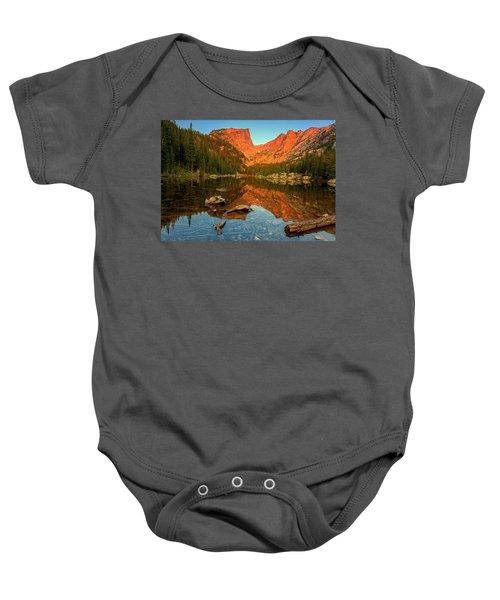 Dream Lake Sunrise Baby Onesie