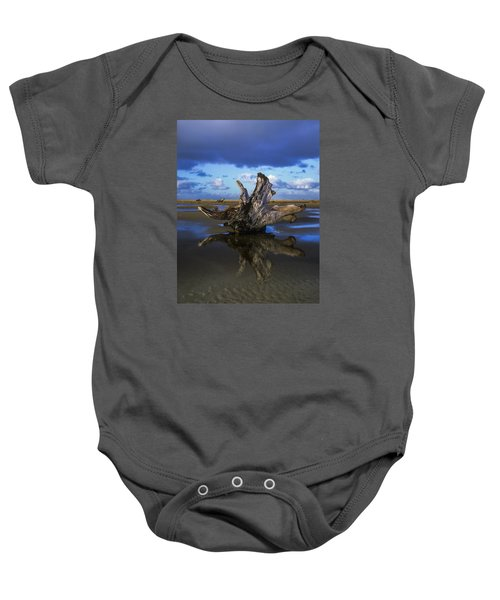 Driftwood And Reflection Baby Onesie