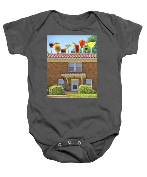 Drinks On The House Baby Onesie by Nikolyn McDonald