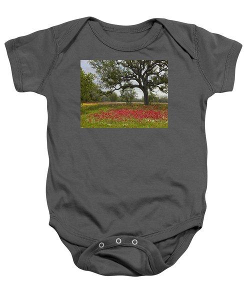 Drummonds Phlox Meadow Near Leming Texas Baby Onesie