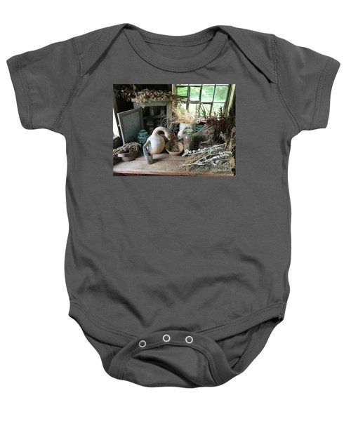 Drying Herbs And Flowers Baby Onesie