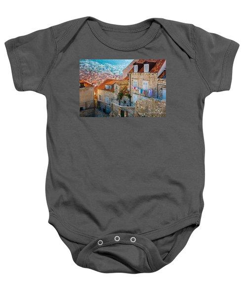 Dubrovnik Clothesline Baby Onesie