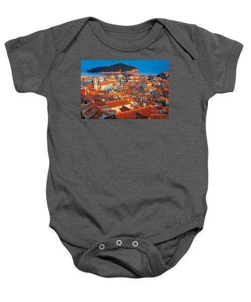 Dubrovnik Rooftops Baby Onesie