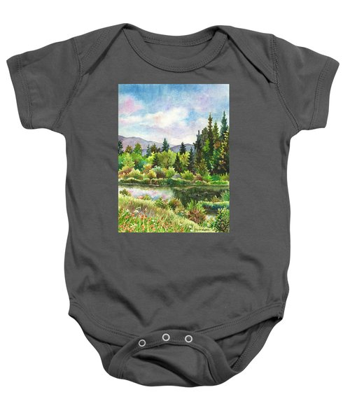 Duck Pond At Caribou Ranch Baby Onesie