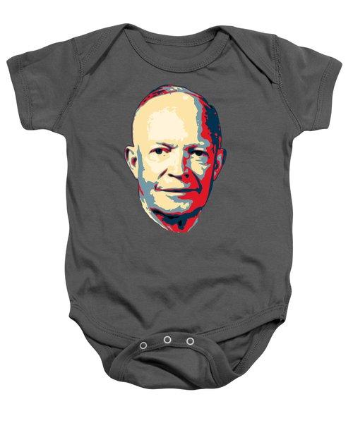 Dwight D. Eisenhower Pop Art Baby Onesie