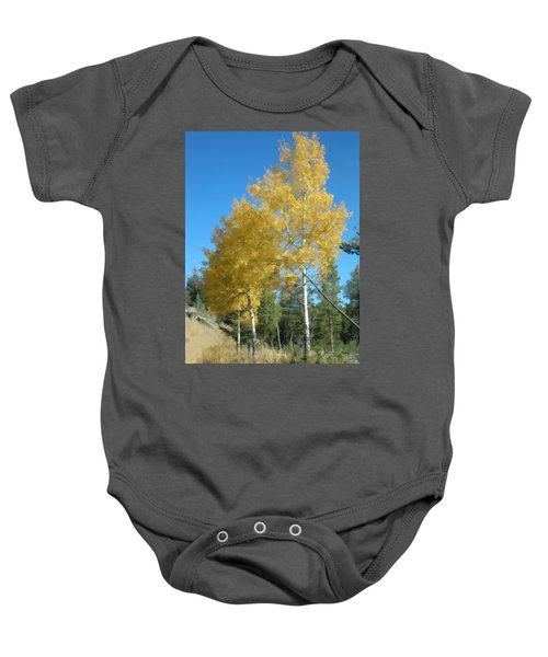 Early Autumn Aspens Baby Onesie