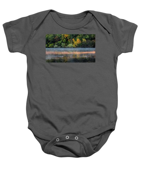 Early Autumn Morning At Longfellow Pond Baby Onesie