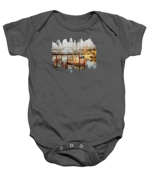 Early Light On Yaquina Bay Baby Onesie