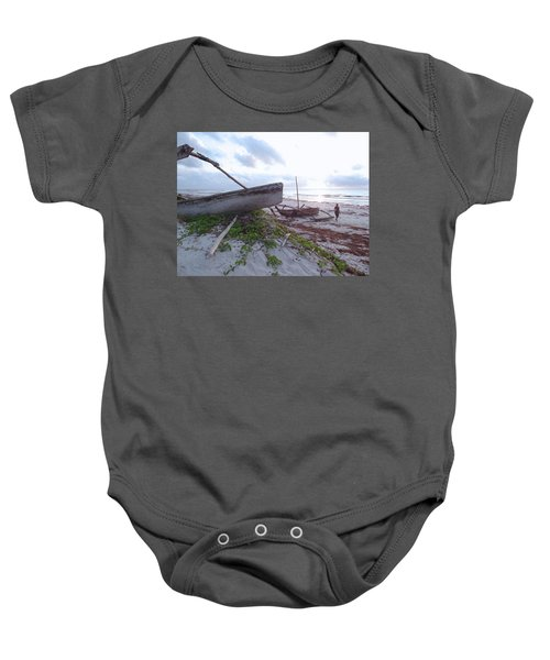 early morning African fisherman and wooden dhows Baby Onesie