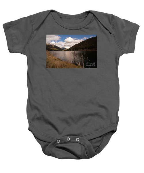 Earthquake Lake Baby Onesie