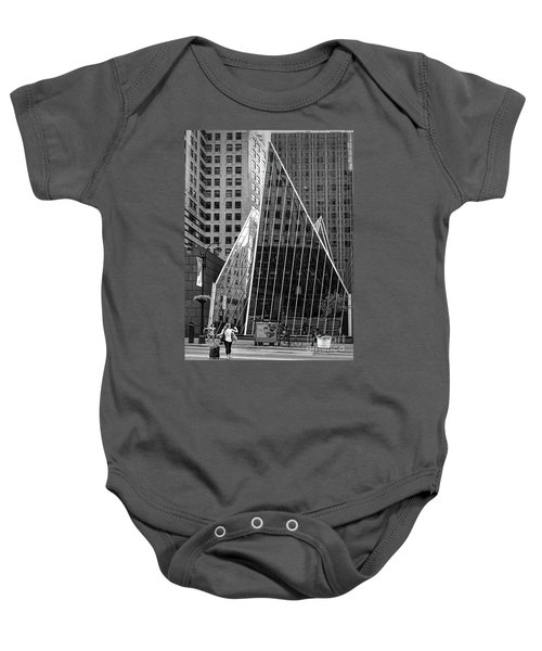 East 42nd Street, New York City  -17663-bw Baby Onesie