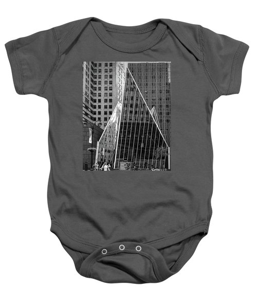 East 42nd Street, New York City  -17663-bw Baby Onesie