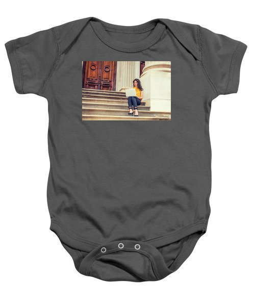 East Indian American College Student Studying In New York Baby Onesie