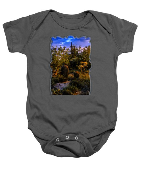 East Of Sunset V40 Baby Onesie by Mark Myhaver