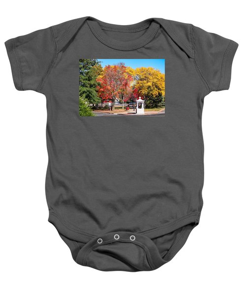 Easthampton Center In The Fall Baby Onesie