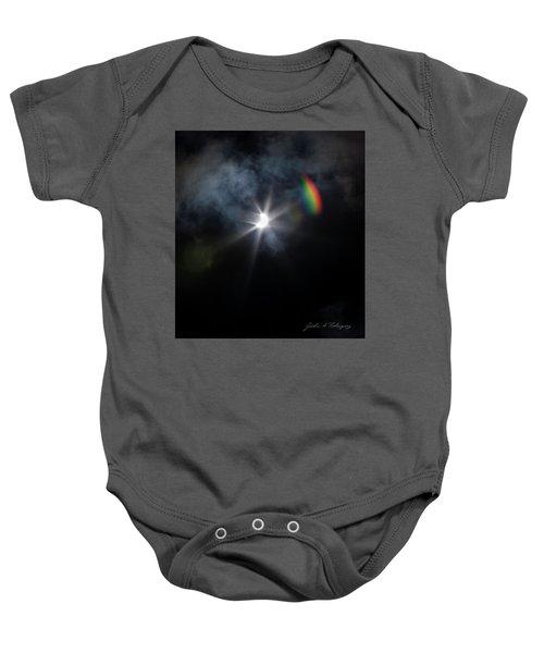 Solar Eclipse 2017 And Rainbow Baby Onesie