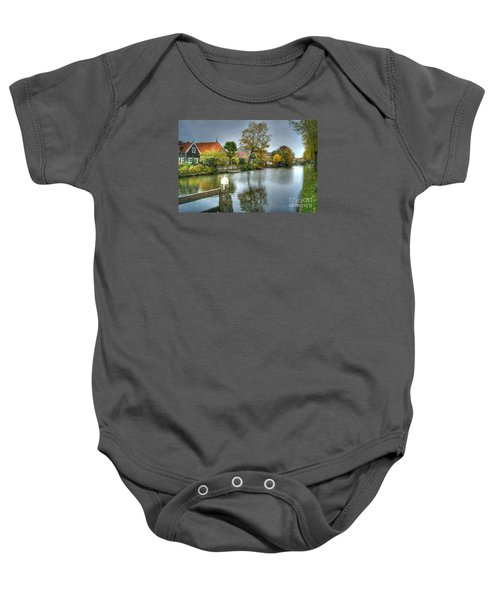 Edam Waterway In Holland Baby Onesie