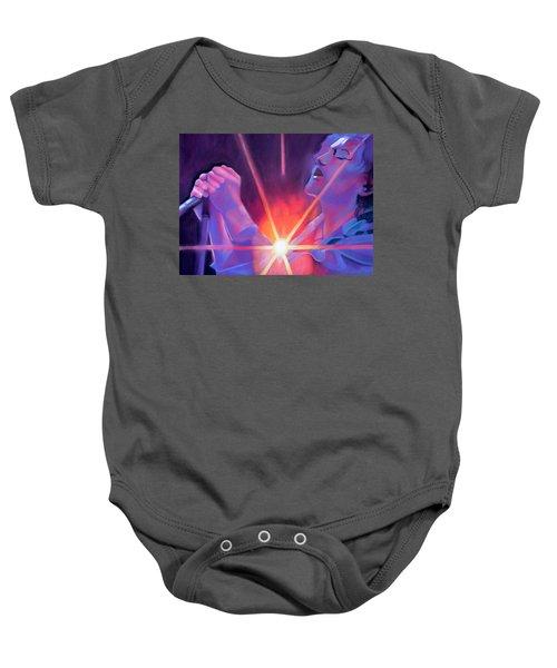 Eddie Vedder And Lights Baby Onesie