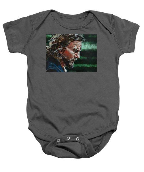 Eddie Vedder Baby Onesie by Joel Tesch