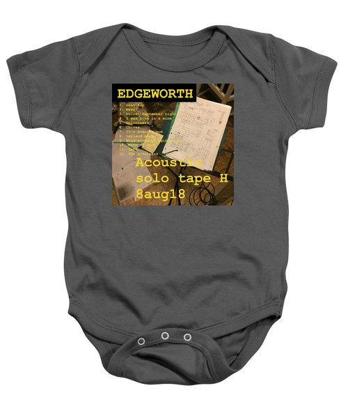 Edgeworth Acoustic Solo Tape H Baby Onesie
