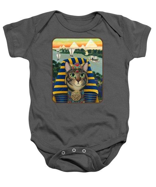 Egyptian Pharaoh Cat - King Of Pentacles Baby Onesie
