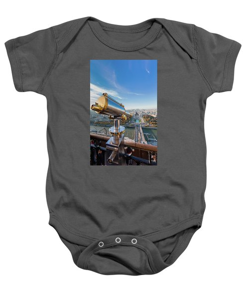 Eiffel Tower Telescope 2 Baby Onesie